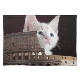 roman kitty placemat