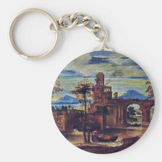 Roman Landscape By Carracci Annibale Keychain