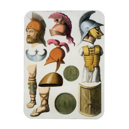 Roman military equipment, from 'Le Costume Ancien Rectangle Magnet