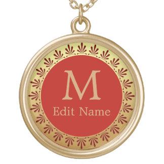 Roman Monogram Pendant