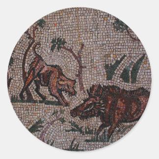 Roman Mosaic Classic Round Sticker