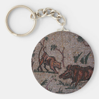 Roman Mosaic Key Ring