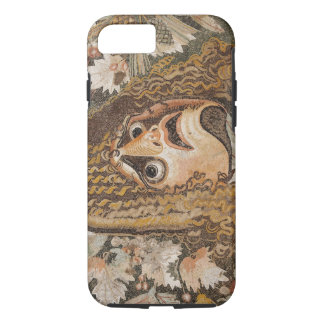 Roman mosaic, with mask, leaves and fruit iPhone 8/7 case