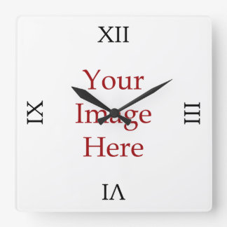 Roman Numeral Create Your Own Square Wall Clock