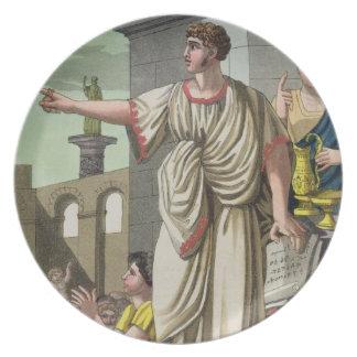 Roman Orator, from 'L'Antica Roma', 1825 (colour l Dinner Plate