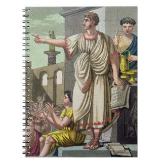 Roman Orator, from 'L'Antica Roma', 1825 (colour l Notebook