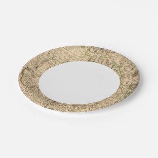 Roman roads and battlefields paper plate