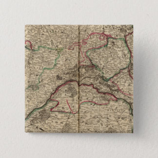 Roman roads and chapels 15 cm square badge