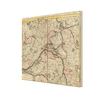 Roman roads and chapels canvas print