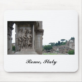 Roman Ruins Entrance in Rome Italy Mouse Pad