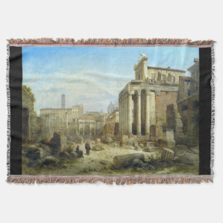 Roman Ruins Forum Italy Rome Throw Blanket