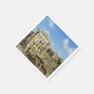 Roman Ruins in Rome Italy Paper Napkin