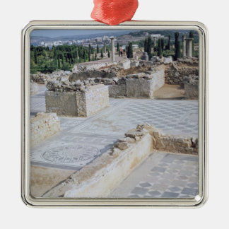 Roman ruins of the port of Emporion Christmas Ornament