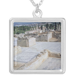 Roman ruins of the port of Emporion Silver Plated Necklace
