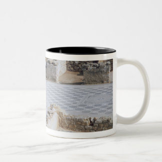 Roman ruins of the port of Emporion Two-Tone Coffee Mug