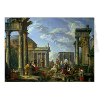 Roman Ruins with a Prophet, 1751 Card