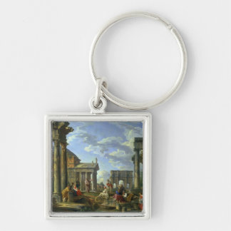 Roman Ruins with a Prophet, 1751 Keychain