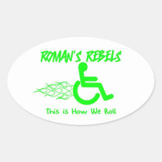 Roman s Rebels Oval Stickers