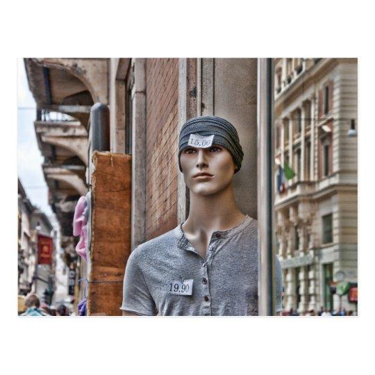 Roman Shopping Bizarre Italian Mannequin Postcard
