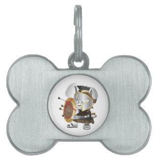 Roman Soldier Bunny Pet Tag