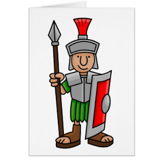 roman soldier card