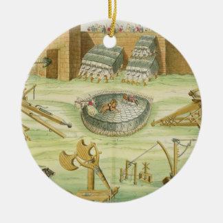 Roman Soldiers Besieging a Town, plate 23B, class Round Ceramic Decoration