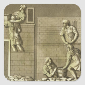 Roman soldiers building a fort, plate 21 from 'Le Square Sticker