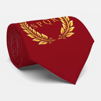 Roman SPQR Laurel Tie