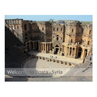 Roman theater stage Bosra, Syria Postcard