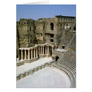 Roman theatre at Bosra , Syria Card