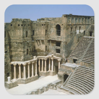 Roman theatre at Bosra , Syria Square Sticker