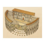 Roman Theatre Wood Wall Decor