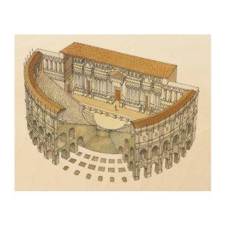Roman Theatre Wood Wall Decor