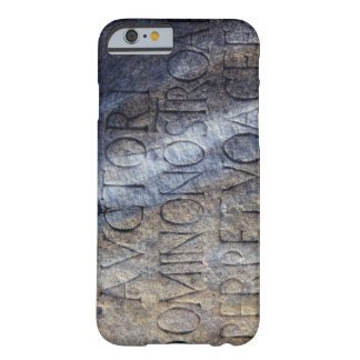 Roman typography at the Forum, Rome, Italy Barely There iPhone 6 Case