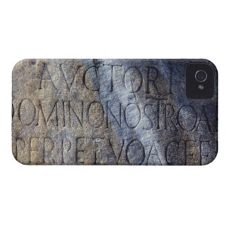 Roman typography at the Forum, Rome, Italy Case-Mate iPhone 4 Case