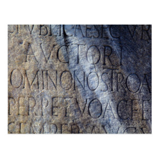 Roman typography at the Forum, Rome, Italy Postcard