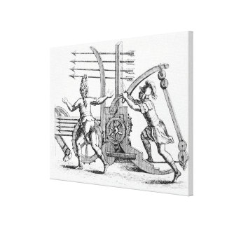 Roman war machine for firing spears gallery wrapped canvas