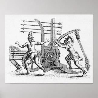Roman war machine for firing spears poster