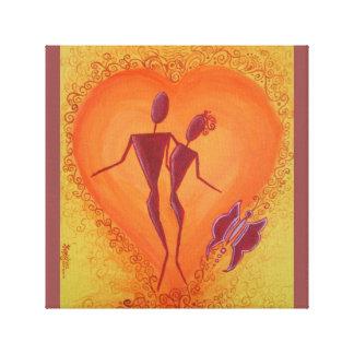 Romance at heart canvas prints
