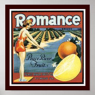 Romance Brand Peace River Fruit Poster