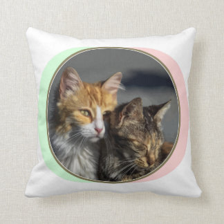 Romance Cat design Polyester Throw Pillow