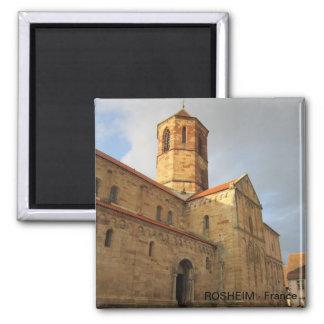 ROMANCE CHURCH ROSHEIM SQUARE MAGNET