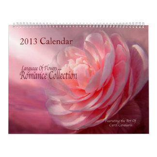 Romance Collection Floral Art Collection 2013 Wall Calendar