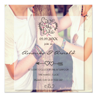 Romance Couple In Love Photo Save The Date Cards 13 Cm X 13 Cm Square Invitation Card