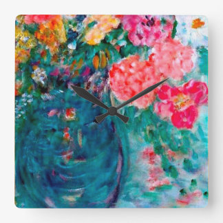 Romance Flowers Artist Designed Wall Clock