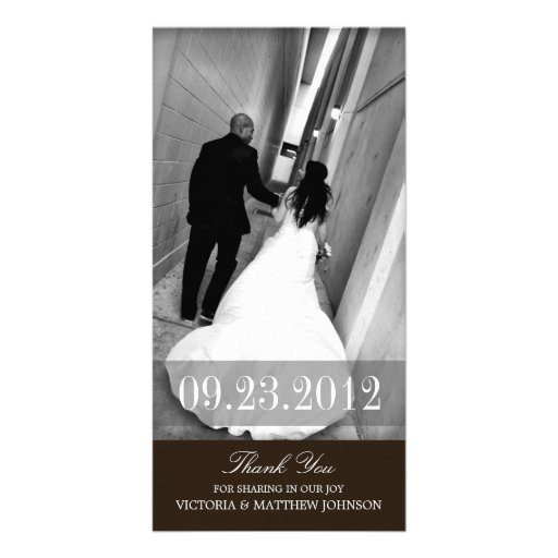 ROMANCE IN BLACK  | WEDDING THANK YOU CARD PHOTO GREETING CARD