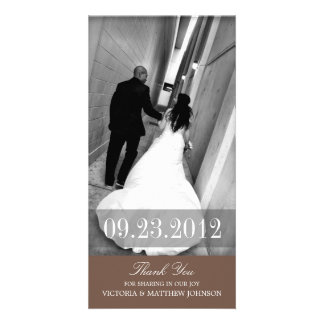 ROMANCE IN BROWN | WEDDING THANK YOU CARD