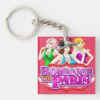 Romance in Paris Keychain