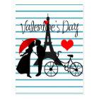 Romance in Paris Postcard