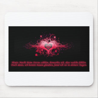Romance in pink ones mouse pad